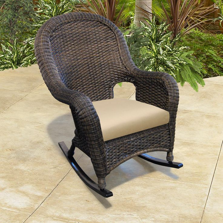 Monaco Nc High Back Rocker By Chicago Wicker Nci Patio