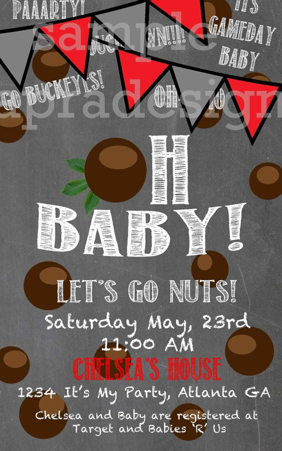 Ohio State Buckeye BABY SHOWER Invitation Oh Baby by laPradesign, $13.00