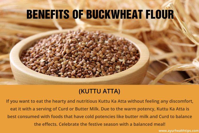 5 Health Benefits of Buckwheat Flour (Kuttu ka Atta) with Curd.  #buckwheat #kuttukaatta #buckwheatflour #buckwheatflourbenefits