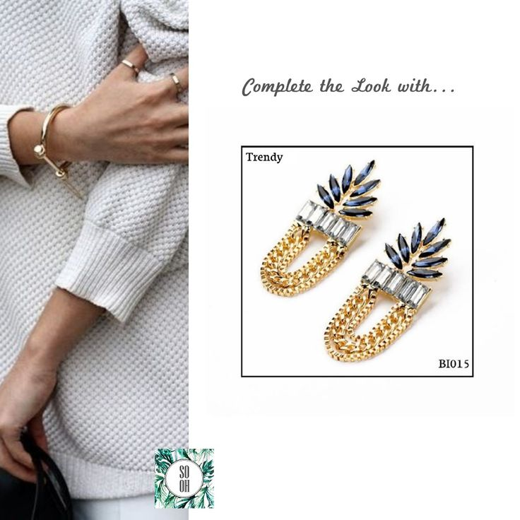 Ref: BI015 Trendy Medidas: 7.6 cm x 2.7 cm  So Oh: 11.99  🌱#sooh_store #onlinestore #style #inspiration #styleinspiration #brincos #earrings #fashion #shoponline #aw2016 #aw1617 #winterstyle