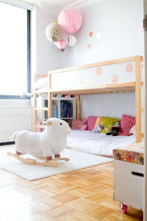 LOTS of good ideas for using the Ikea Kura kids' loft bed via Kidsmopolitan