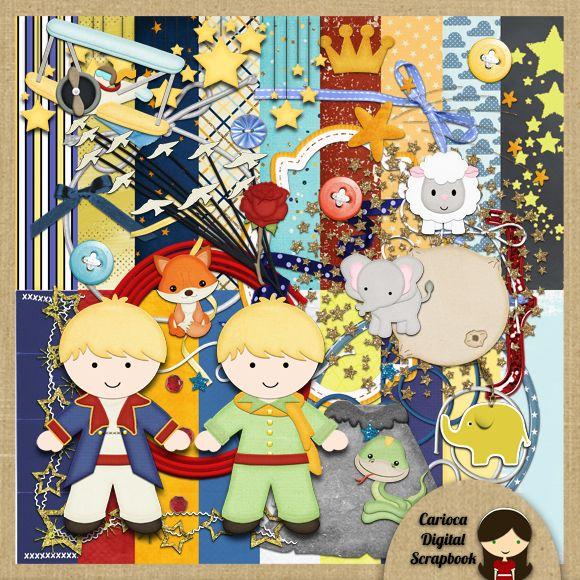 Little Prince Digital Scrapbook Kit