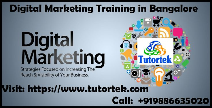 Tutortek provides best Digital Marketing Training in Bangalore by the expert trainers.  Tutortek Provides Digital Marketing Services in Bangalore. Here to provide you all kind of Digital marketing services such as SEO (on page and off page ), Google AdWords, Email marketing, social media marketing and optimization, SMS campaign, Affiliate Marketing and Analytics for all your business, Organizations, Schools, Website or person portfolio.  Call:- +919886635020 Visit:- https://www.tutortek.com