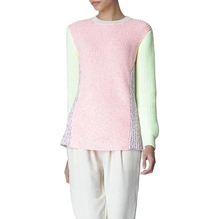 STELLA MCCARTNEY Colour-block jumper (Fluro