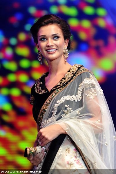Amy Jackson during the 59th Filmfare Awards, held at Nehru Indoor Stadium, Chennai on July 07, 2012