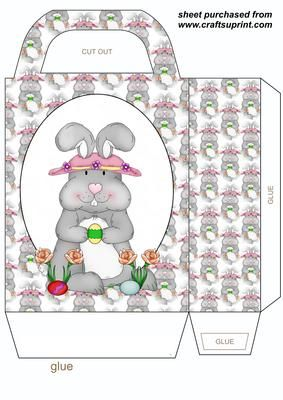 229 best easter bagsboxes envelopes images on pinterest easter bunny gift bagyou will need to print 2 sheets to make gift bag negle Gallery