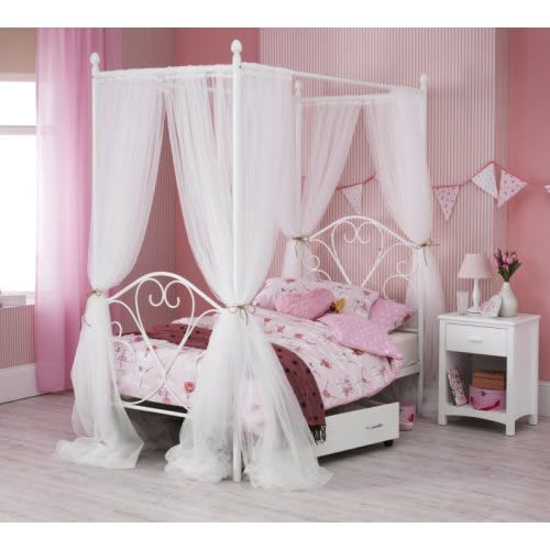 Isabelle Four Poster Single Metal Bed Frame