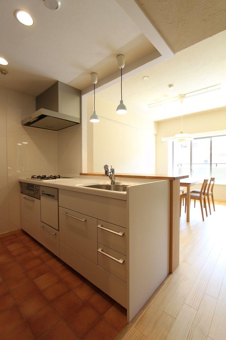 キッチン事例:ほっこりキッチン(収納計画にこだわった北欧スタイルの家)