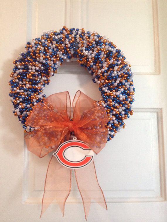 Da+Bears+Chicago+Bears+Beaded+Wreath+by+LimeABeads+on+Etsy,+$45.00