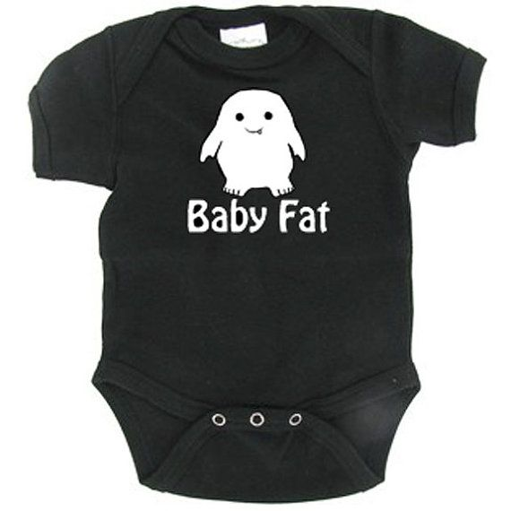 Baby Fat, Adipose, Doctor Who inspired baby bodysuit, one peice, infant creeper on Etsy, $15.00
