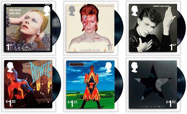 Coleção de selos com David Bowie http://bicho-das-letras.blogspot.pt/2017/01/coleccao-de-selos-da-royal-mail-com.html #música #correio #RoyalMail #DavidBowie #música