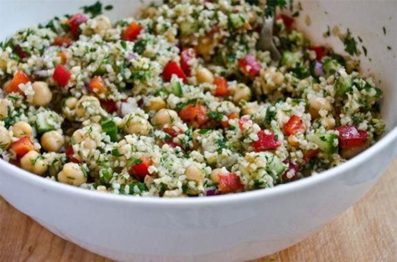 Bulgur Salad With Roasted Peppers, Chickpeas And Pistachios Recipes ...