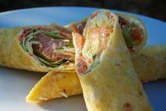 Recept: Tortilla | Nebíčko v papuľke 3 hrčeky hladkej múky 1 ČL soli 2 ČL prášku do pečiva 5 PL masti teplá voda  ;  mrkva ľadový šalát údený losos kôpor