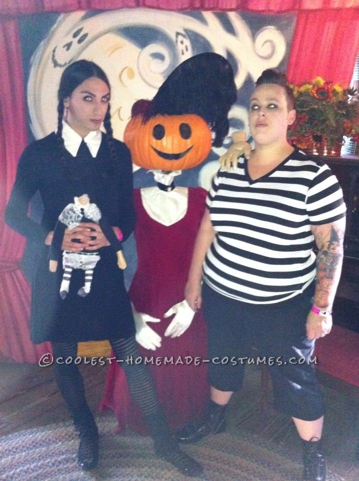 Gender-Swapped Wednesday and Pugsley Addams Couple Costume... Coolest Homemade Costumes