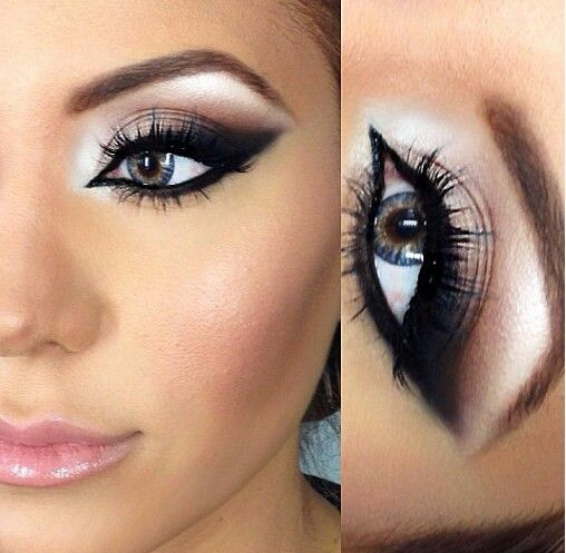 Dramatic cat eye Makeup and Beauty Pinterest