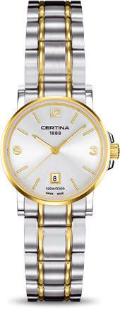 Certina Watch DS Caimano Lady Quartz #bezel-fixed #bracelet-strap-gold #brand-certina #case-material-yellow-gold #case-width-27mm #classic #date-yes #delivery-timescale-7-10-days #dial-colour-silver #gender-ladies #movement-quartz-battery #official-stockist-for-certina-watches #packaging-certina-watch-packaging #style-dress #subcat-ds-caimano #supplier-model-no-c017-210-22-037-00 #warranty-certina-official-2-year-guarantee #water-resistant-100m
