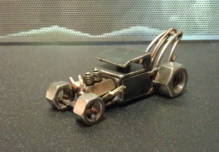 Scrap Metal Rat rod Tow truck by holmeswelddesign on Etsy, $40.00