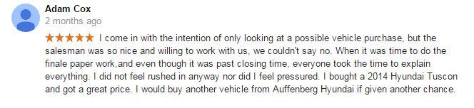 Thank you! #CustomerService #AuffenbergHyundai