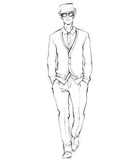 drawing men illustration fashion - Google Search