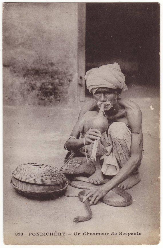 Charmeur de serpents - Pondichéry #india #snake