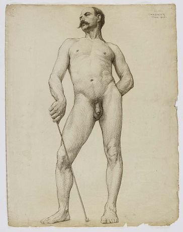 Untitled (Standing Male Nude) by William Chadwick / American Art