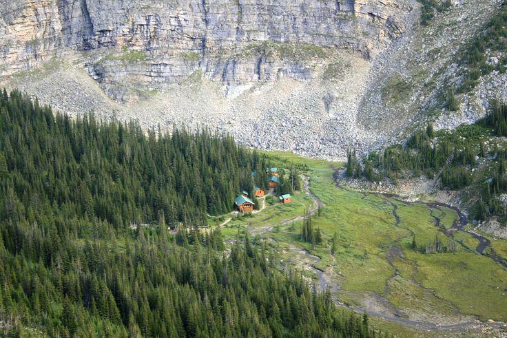 Shovel Pass Lodge, mid way on the Skyline Trail, Jasper NP.