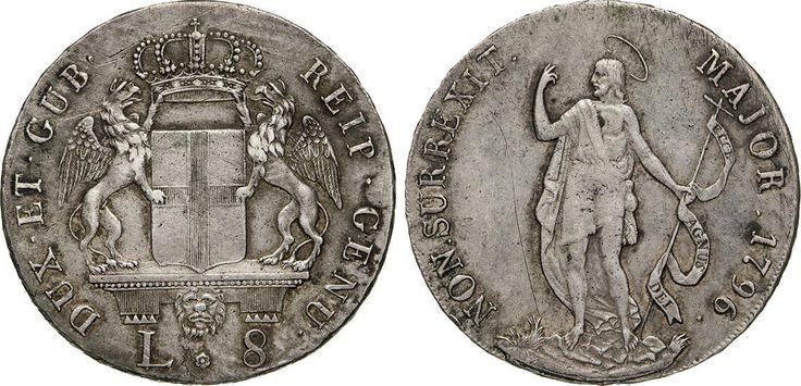 NumisBids: Numismatica Varesi s.a.s. Auction 65, Lot 398 : GENOVA - DOGI BIENNALI, III fase (1637-1797) 8 Lire 1796. CNI 7 ...