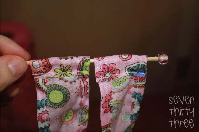 how to make dollhouse curtains