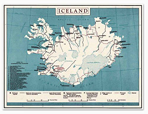 21 best florida vintage map images on pinterest vintage cards shop for map of iceland poster on etsy the place to express your creativity through the buying and selling of handmade and vintage goods gumiabroncs Choice Image