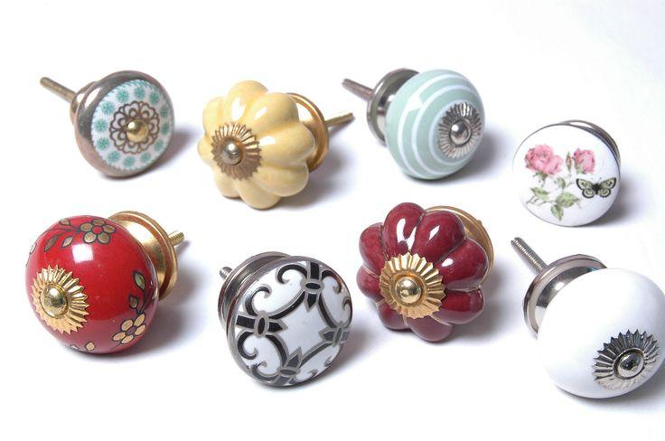 8 x Mixed Vintage Shabby Chic Cupboard Knobs Drawer Knobs Kitchen Knobs Cabinet | eBay