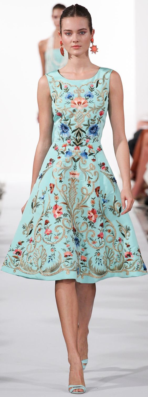 #Printed skirt & blue sandals