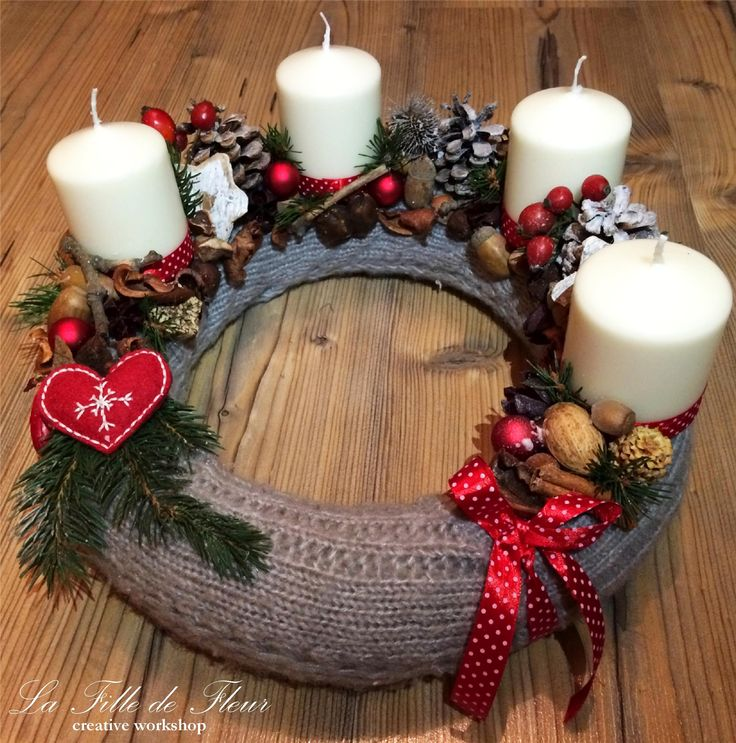 advent wreath/grey 30cm