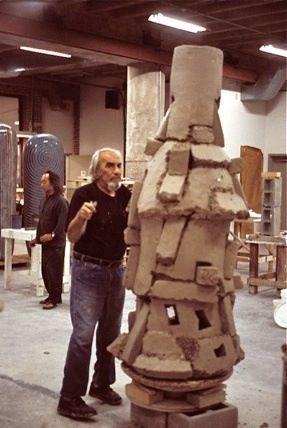 Peter Voulkos, Jun Kaneko in the background