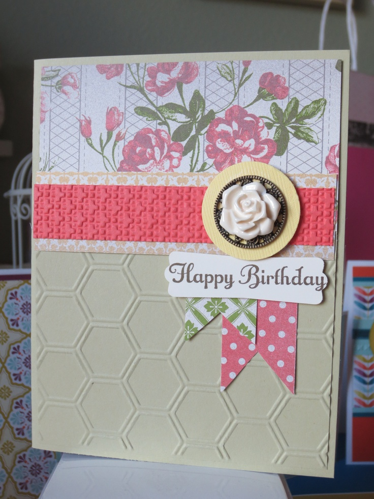 Birthday card my stampin up projects pinterest