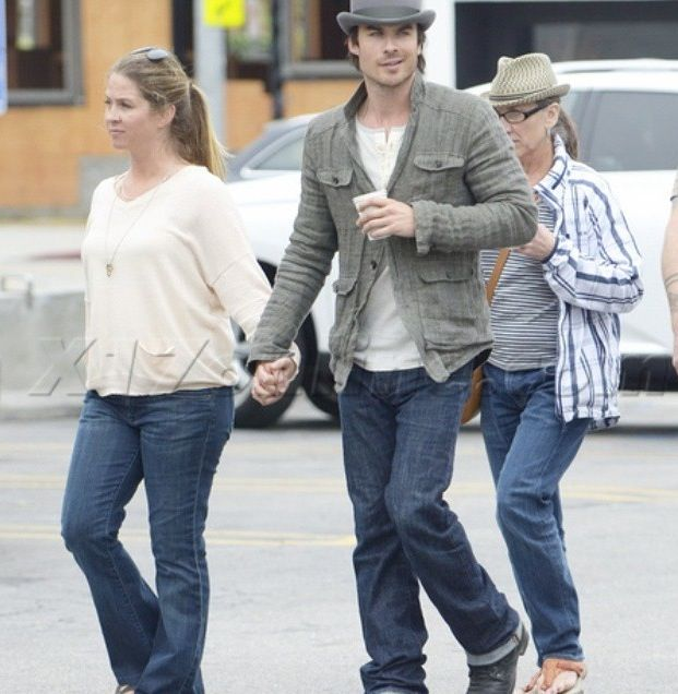 this is so cute ian holding hands with his big sister