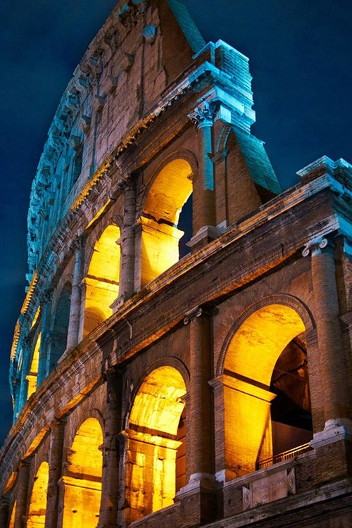 Rome in the night, the Colosseum - Italy by Moyan Brenn  Very nice! http://www.susanhaught.com