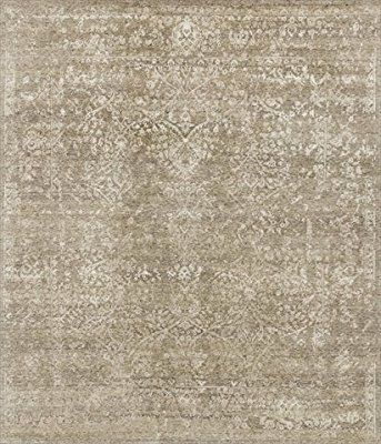 Loloi Rugs PEARPU-03SNPWB6F0 Pearl Collection Transitional Area Rug, 11-Feet 6-Inch by 15-Feet, Stone/Pewter
