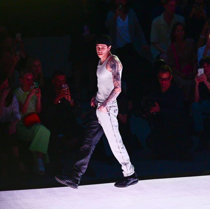Pete Davidson Models For Alexander Wang At Rockefeller Show In