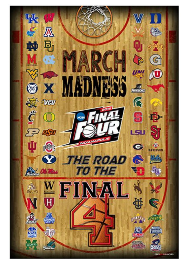 2015 Official NCAA Final Four March Madness All Teams Basketball Print Poster | March madness ...