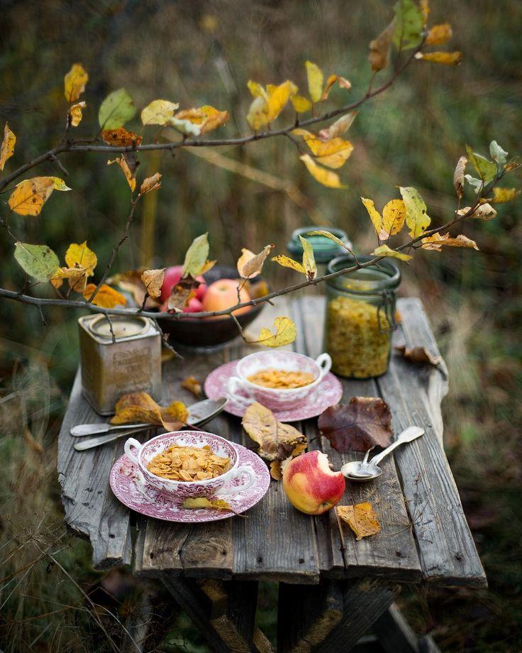 Осень с добрым утром картинки красивые с надписями