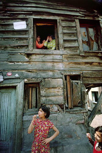 By Ara Guler, Traditional wooden Ottaman-era house, 1968