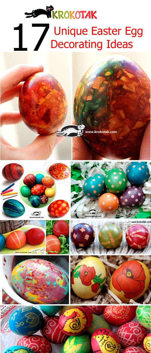 17 Unique Easter Egg  Decorating Ideas