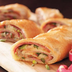 Ham and Swiss Stromboli Recipe from Taste of Home -- shared by Pat Raport of Gainesville, Florida