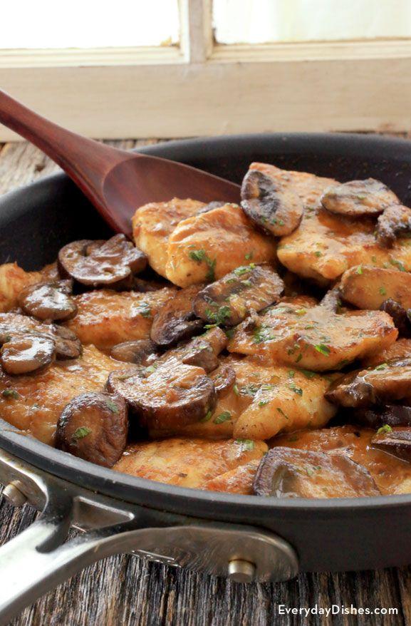 Succulent chicken, mushrooms and savory sauce make the best one pan chicken Marsala recipe!