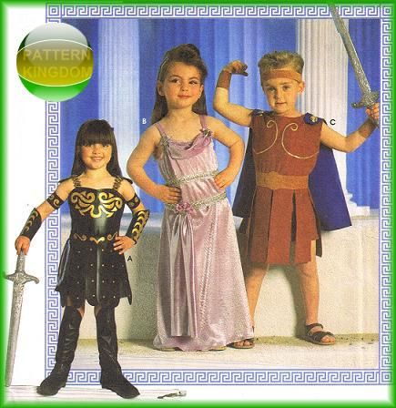Simplicity 7834 XENA Meg & Hercules Childrens Costume Pattern
