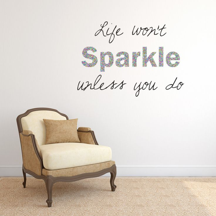 30 best Sparkly & Glitter Wall Stickers images on ...