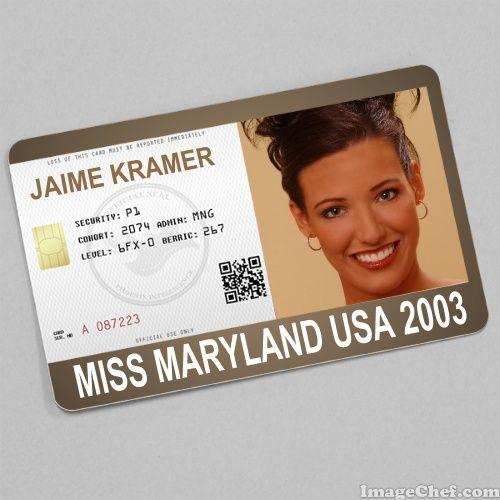 Jaime Kramer Miss Maryland USA 2003 card