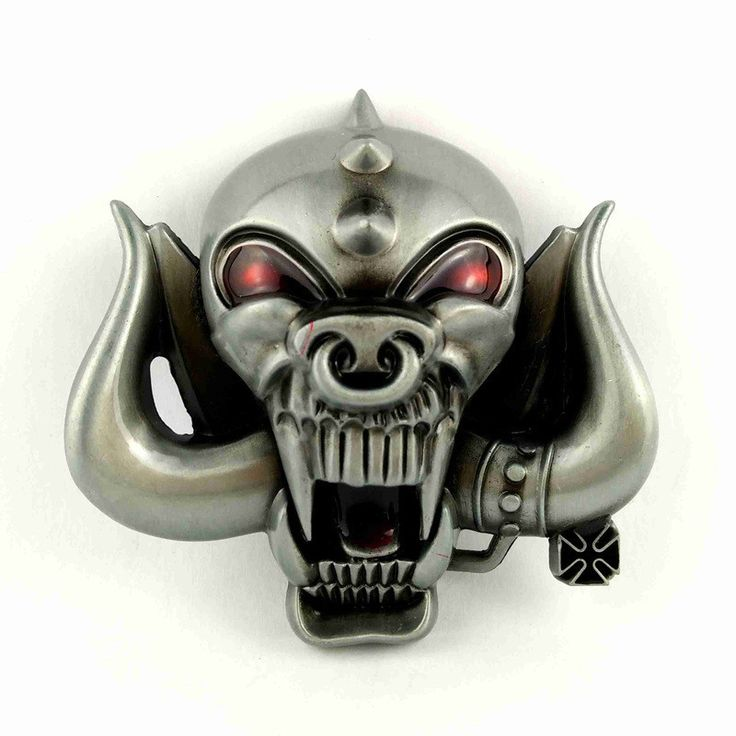 ONLY BUCKLE! Big 3D Motorhead Longhorns Music Cowboy Belt Buckle Skull Metal For Men Belts Cool Hebillas Para Cinturones Hombre