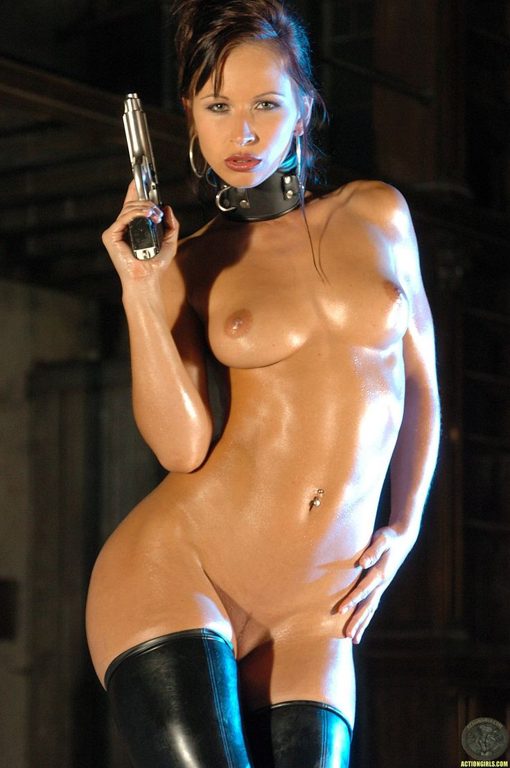 With guns girls naked