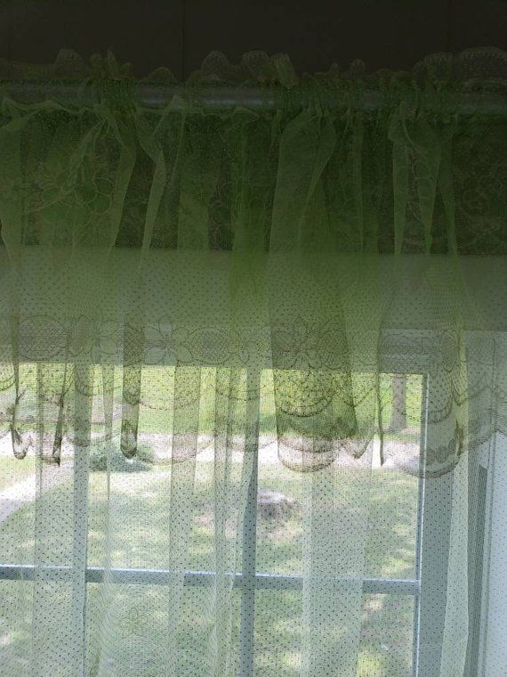 Lime Green Sheer Curtains 1970 S Green Curtains With White